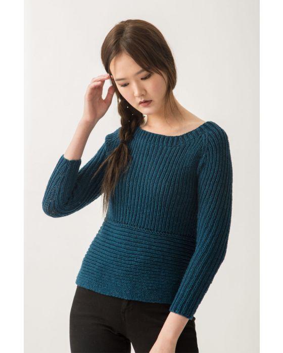 Ribbed Raglan Sweater Kit 1