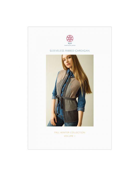 Sleeveless Ribbed Cardigan Pattern