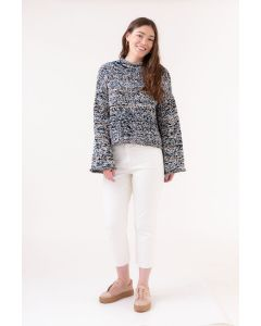 Marled Flared Sleeve Pullover Novomerino Kit