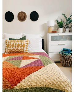 KPC x Bright Red Cherries - Geometric Crochet Blanket Kit
