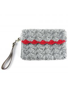 'OMA': Shell Stitch Clutch- CITY CLASSIC