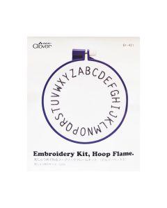 Clover Embroidery Kit Alphabet Hoop