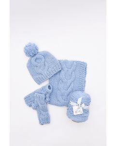 Cosy Cable-Knit Set Kit (Grace)