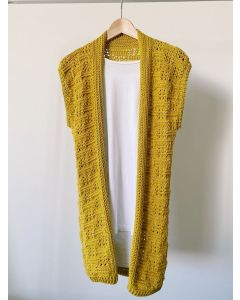Textured Duster Sleeveless Cardigan Kit