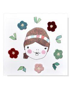 KPC x Meredith Gaston - DIY Crochet Christmas Card Kit - Flowers