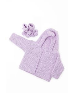 Royal Baby Set - Cardigan and Booties Kit (Glencoul)