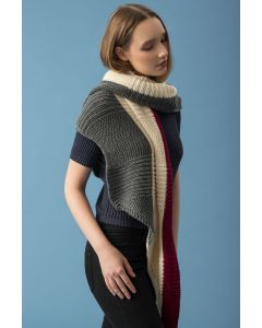 Rib and Garter Stitch Shawl Kit