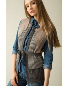 Sleeveless Ribbed Cardigan Kit