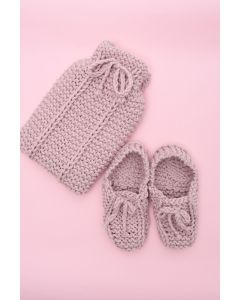 Slip Stitch Hot Water Bottle Cover & Slipper Set Kit