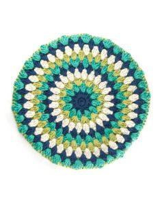 'SERINGA': Granny Circle Stool Cover - SOUTH SIDE