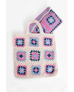 Summer Granny Square Tote & Clutch Kit