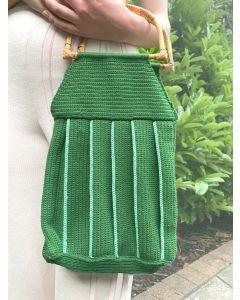 Pleated Crochet Bag