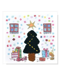KPC x Meredith Gaston - DIY Crochet Christmas Card Kit - Xmas Tree