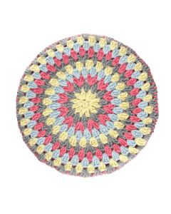 'SERINGA': Granny Circle Stool Cover- TWILIGHT