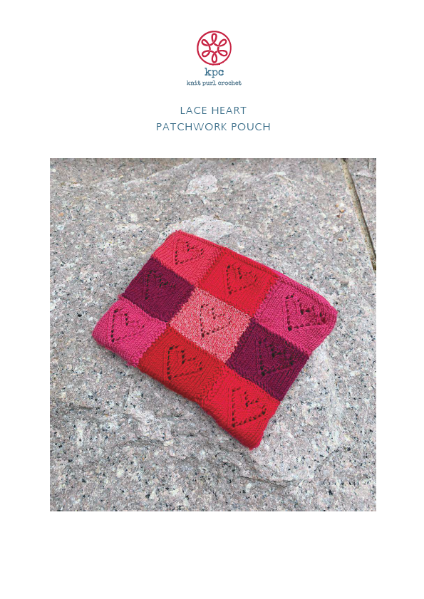 Lace Heart Patchwork Pouch